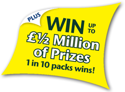Win up to half million of prizes